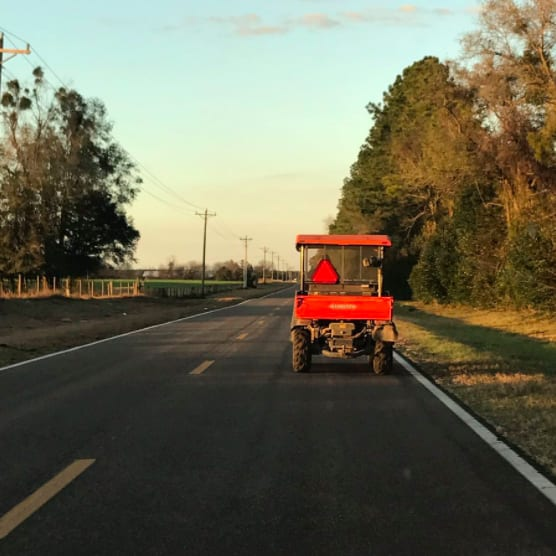 tractor camino escuela