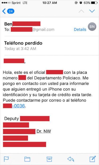 Trolea ladrón - correo de la policia