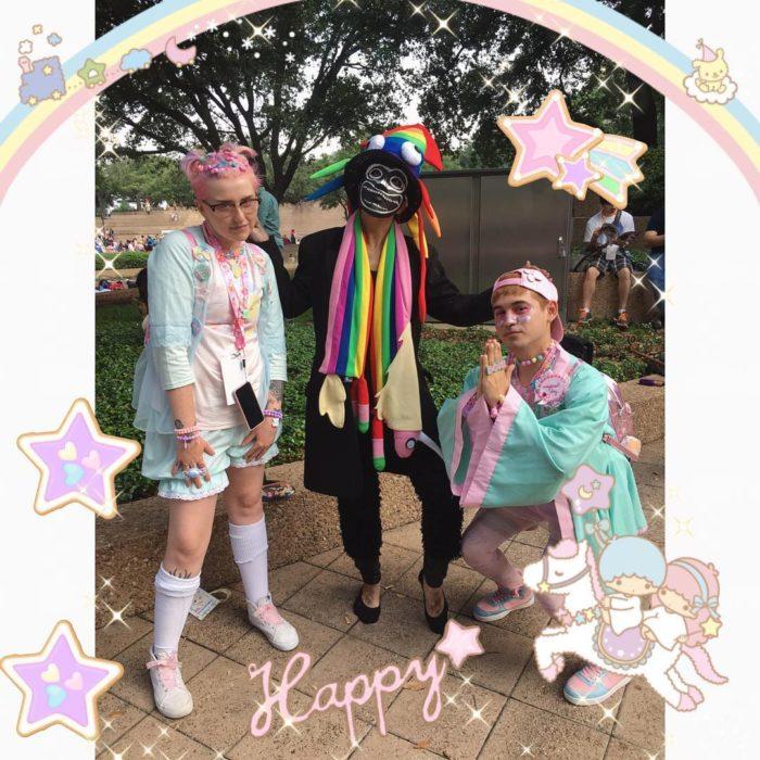 babadook en disfraz gay