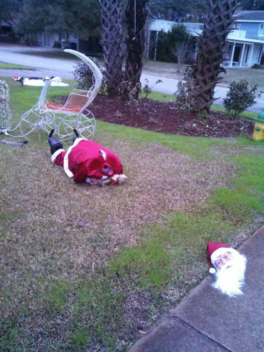 Santa Claus decapitado