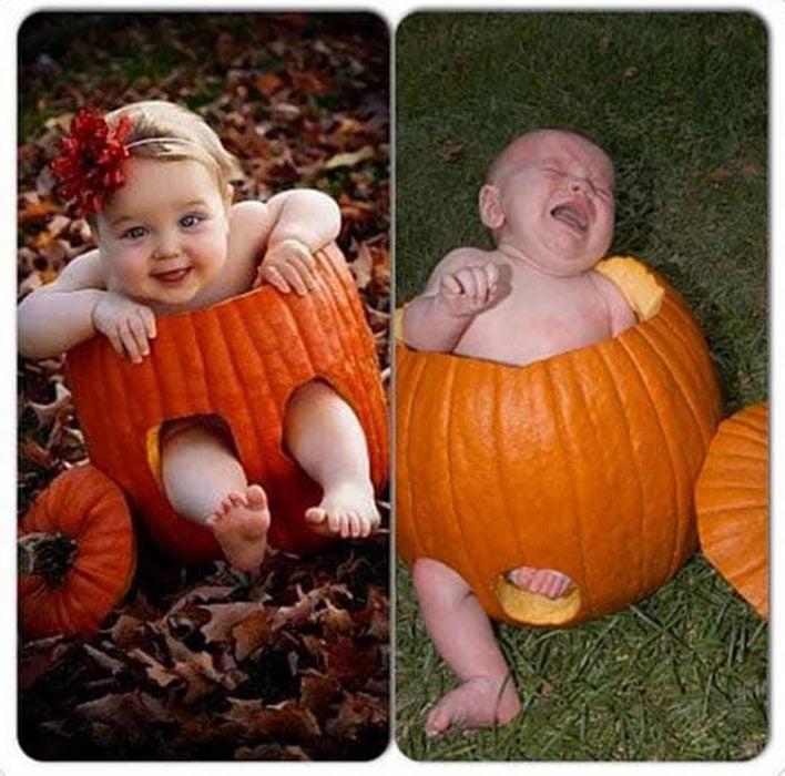 Foto bebé calabaza fail