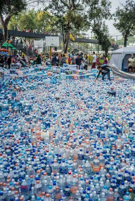 Terremoto México - donaciones de agua