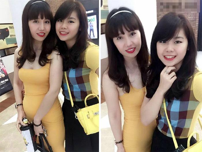 Madres e hijas parecidas jóvenes y bellas japonesas