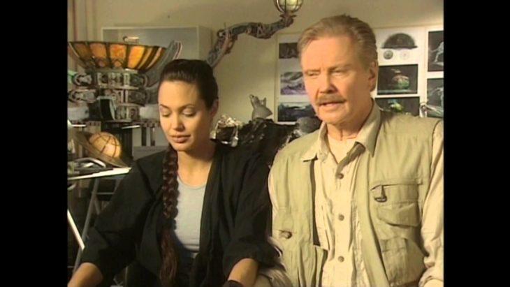 Angelina JOlie y papá
