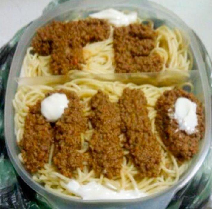 te amo espaguetti con carne