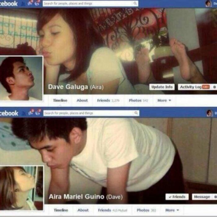 perfiles románticos facebook