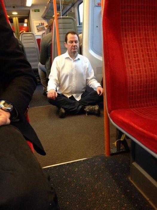 Hombre zen metro