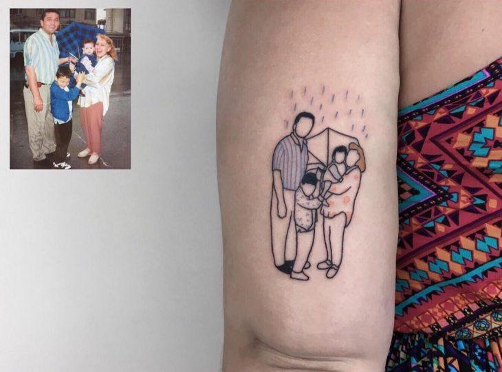 Tatuajes infancia - papás e hijos
