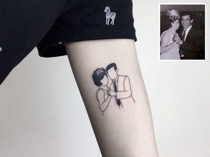 Tatuaje foto infancia - boda