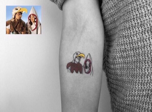 Tatuaje foto infancia - disfraces