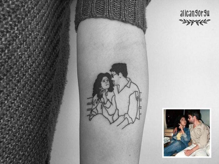 Tatuaje foto infancia - enamorados