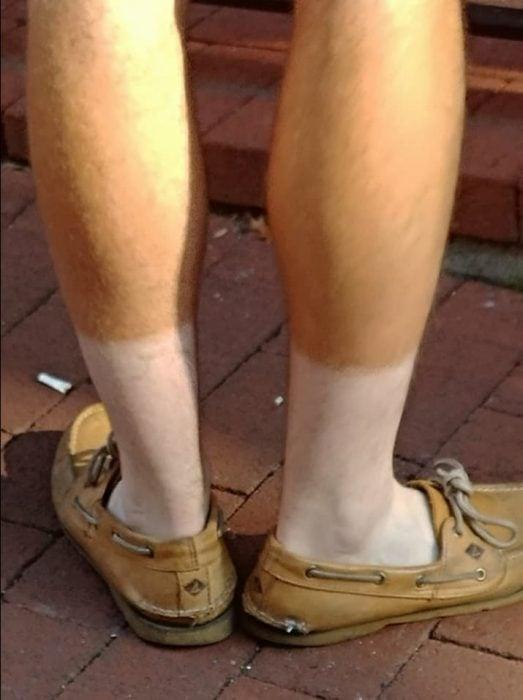 piernas bronceadas
