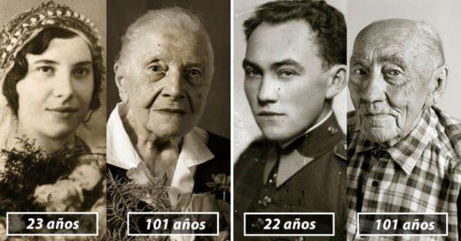 Cover Antes y después: las mismas personas fotografiadas en su juventud y tras cumplir 100 años