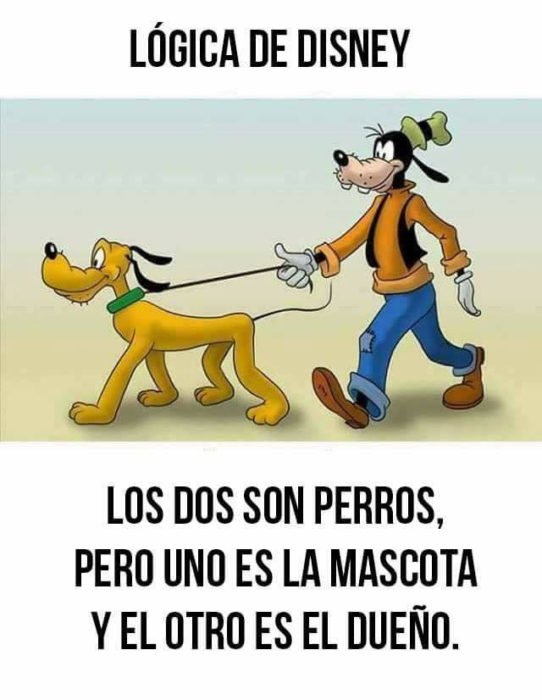 Goofy pasea a Pluto