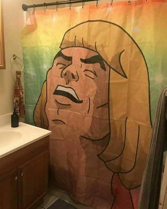 cortina de baño he man