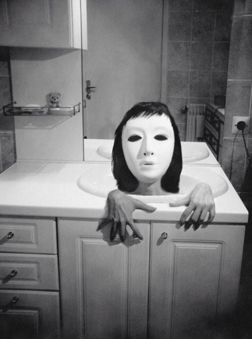 máscara fotografías perturbadoras
