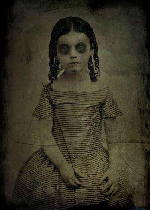 niña ojos fotografías perturbadoras