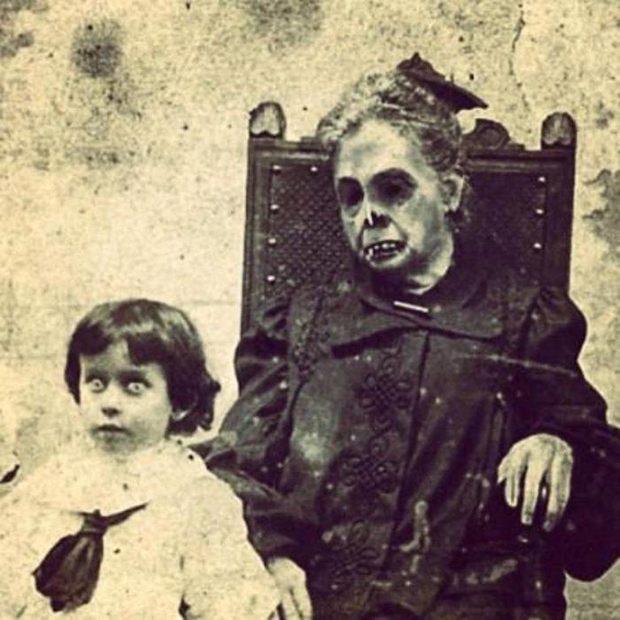 abuela y nieto fotografías perturbadoras