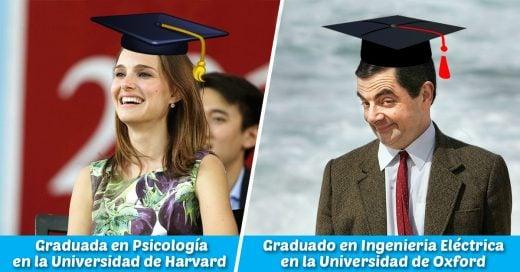 Cover Mira lo que estos famosos estudiaron en la Universidad