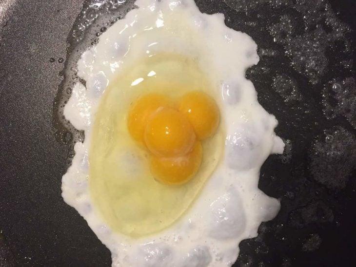 huevos varias yemas