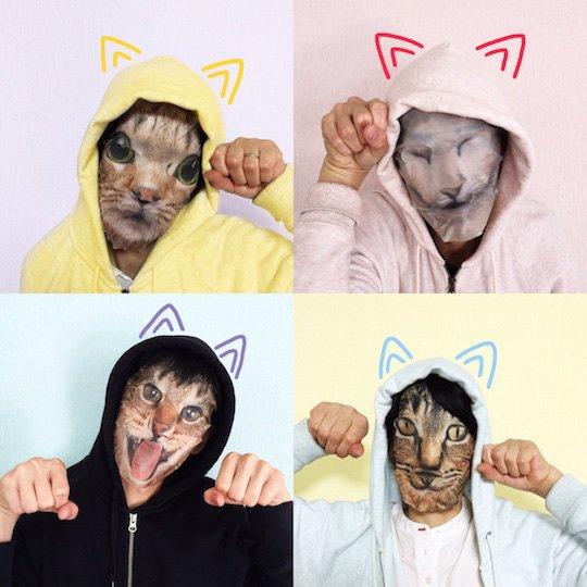 Mascara facial de gato