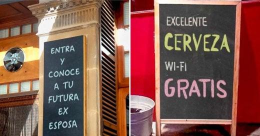 Cover anuncios de cafeterías y bares fueron creados por genios de publicidad