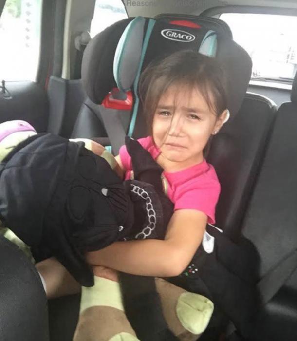 niña llorando darthvader
