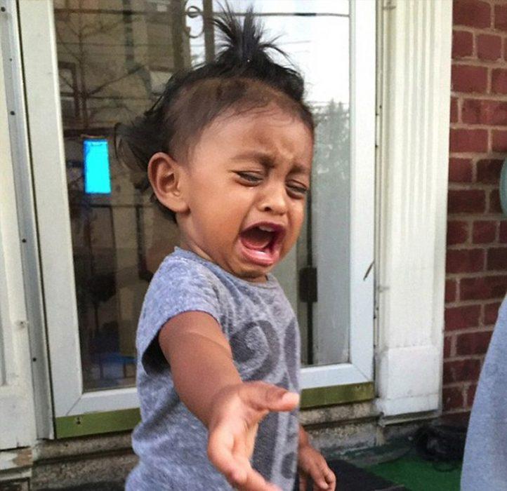 niño llorando berrinche