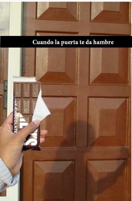 puerta chocolate