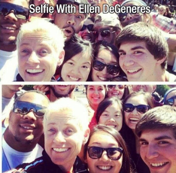 Selfie con Ellen Degeneres