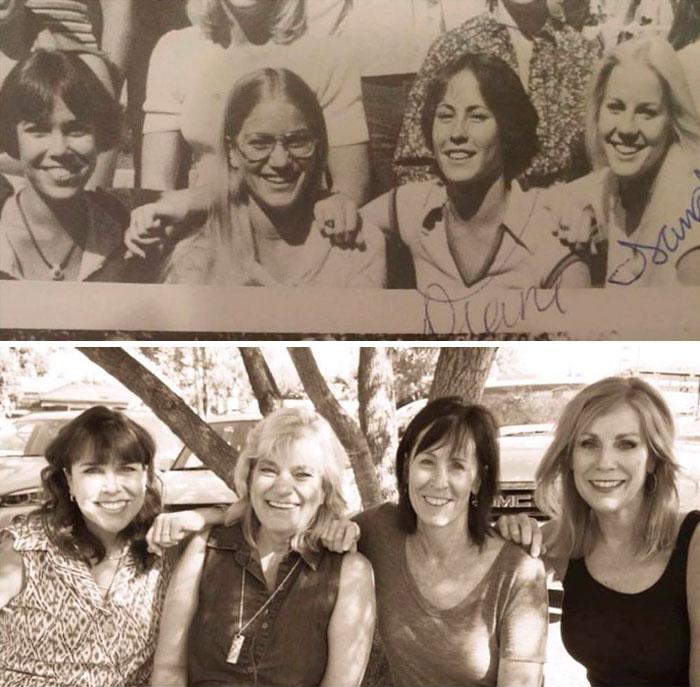 4 amigas antes y ahora