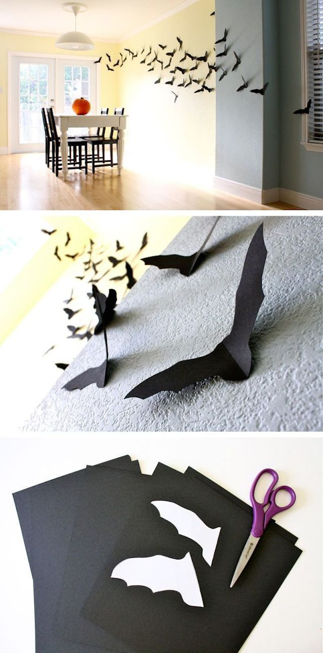pared murciélago Halloween ideas DIY