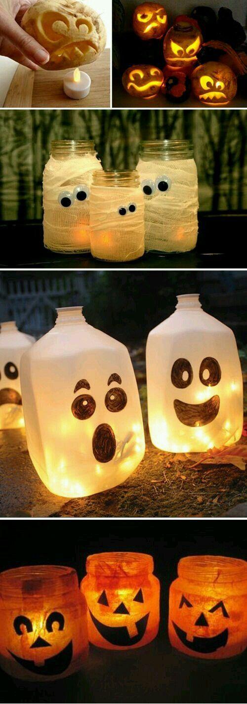 iluminación de terror Halloween ideas DIY