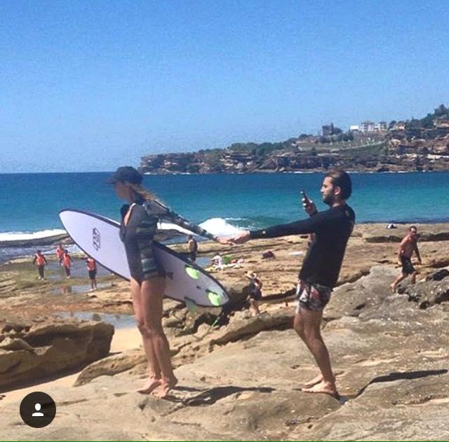 foto pareja instagram playa