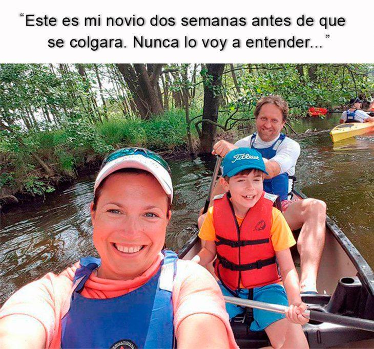foto de tres personas en una canoa