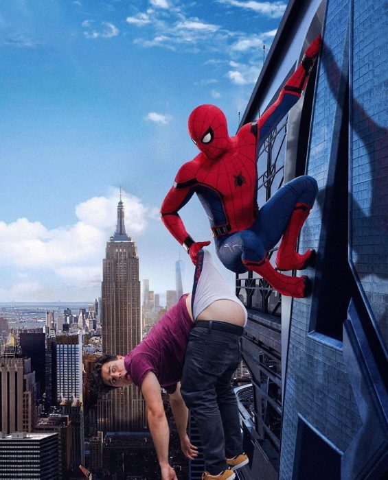 photoshom spiderman