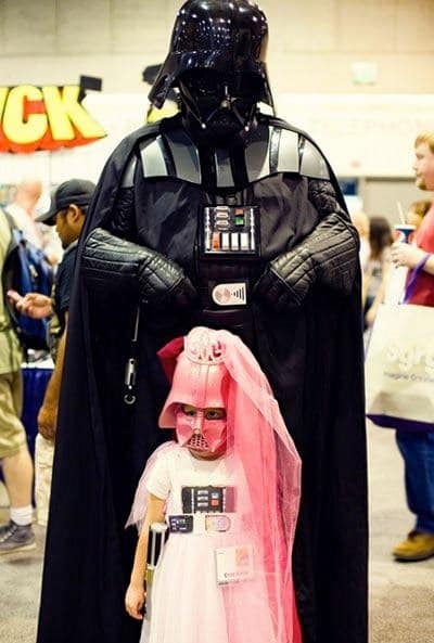 papá darth vader e hija princesa darth vader