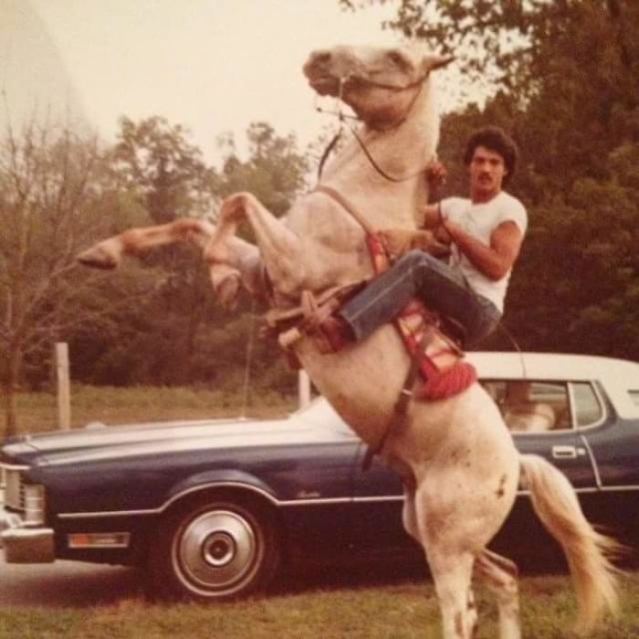 Padres cool Montando a caballo