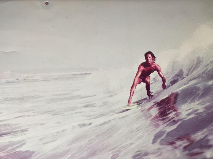 Padres cool surfeando
