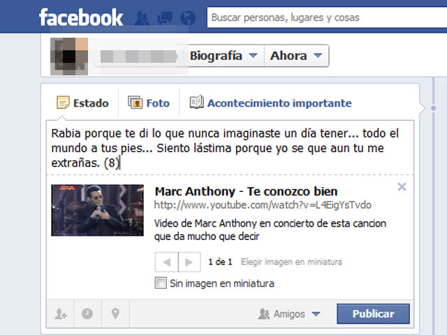 indirectas en facebook