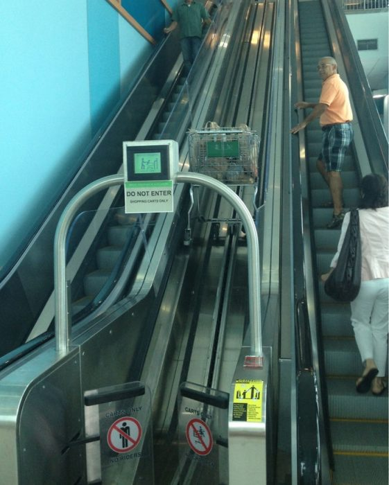 escaleras eléctricas para carro de compras