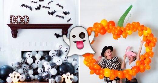 Cover Ideas para decorar con globos en Halloween