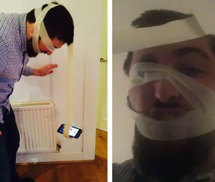 Crea propio selfie stick