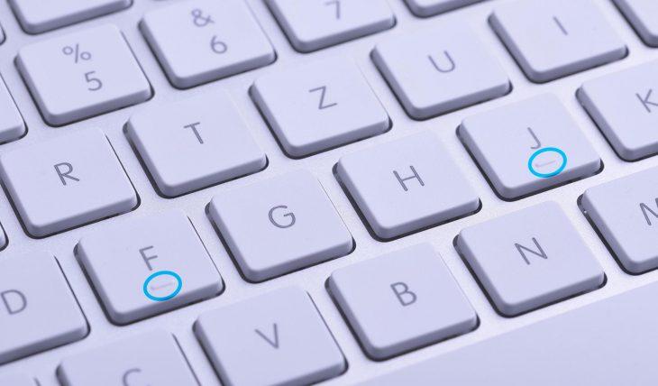 marcas en el teclado