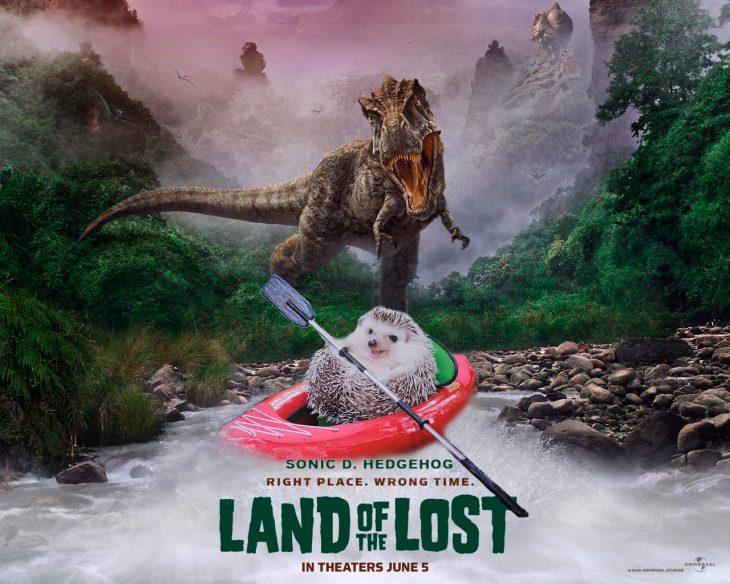 Isla perdida película erizo