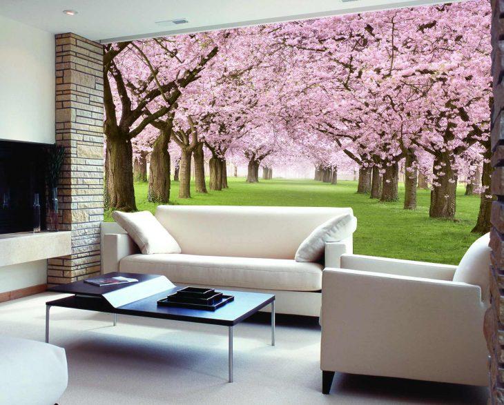 arboles color rosa