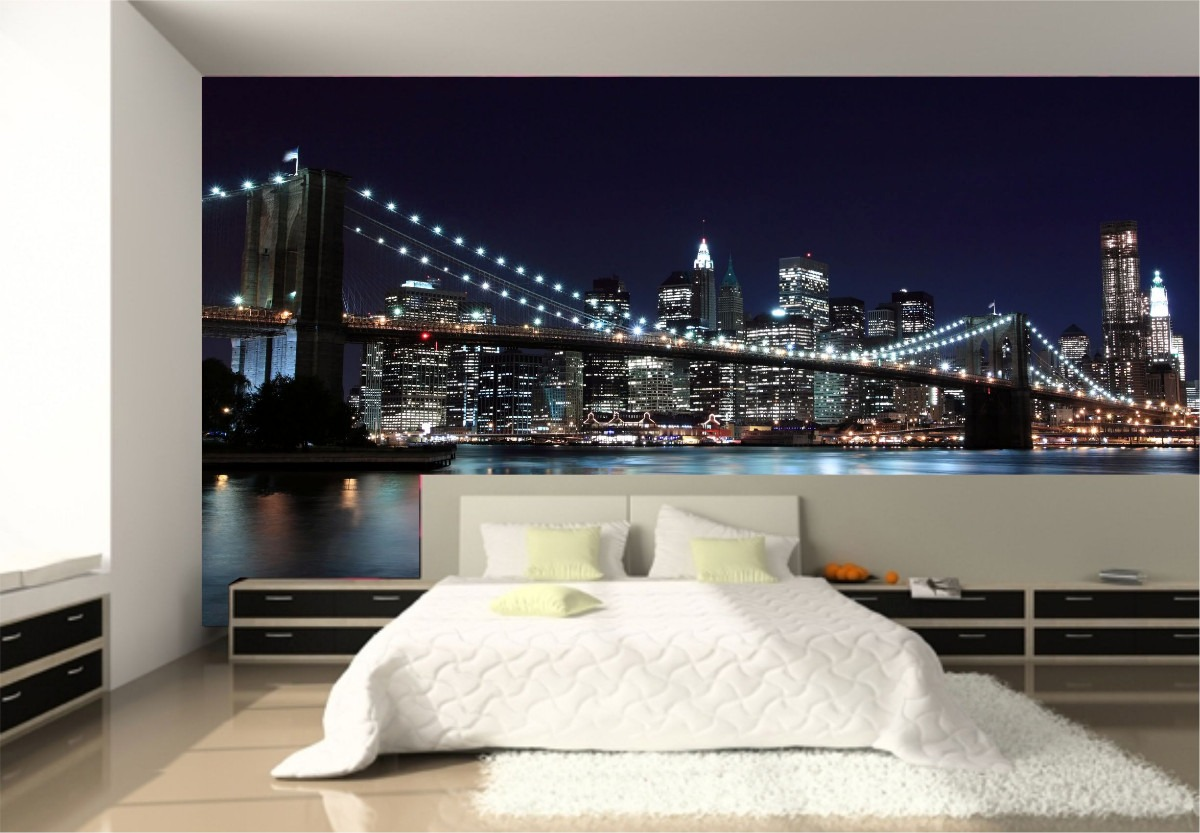 Dise os en murales que le dar n un toque creativo a tu casa for Fotomurales de ciudades para pared