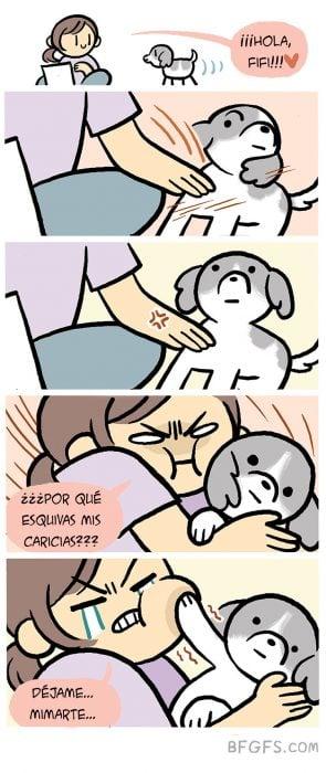 caricias perrito ilustración