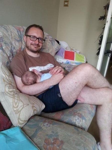 Tranquilo solo es el pie del bebé