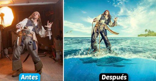 Cover fotografías antes y después de la magia de la edición